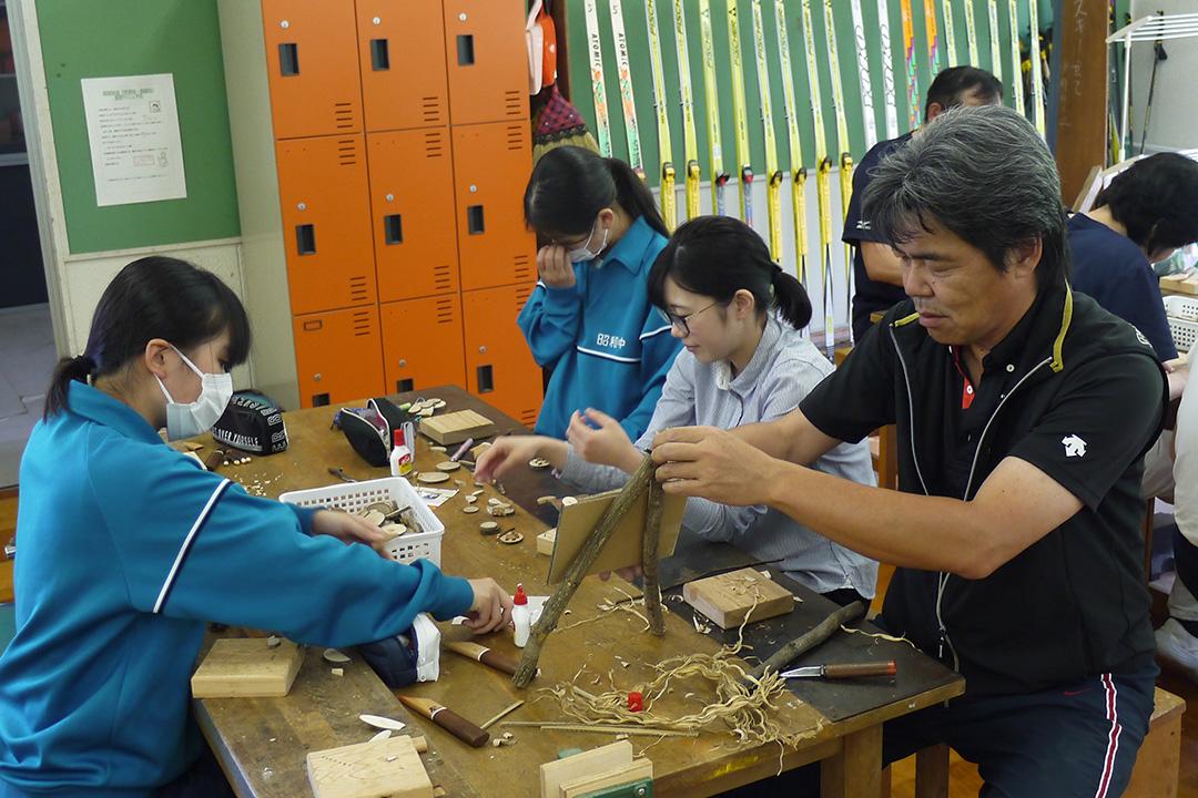 昭和村木工クラフト教室