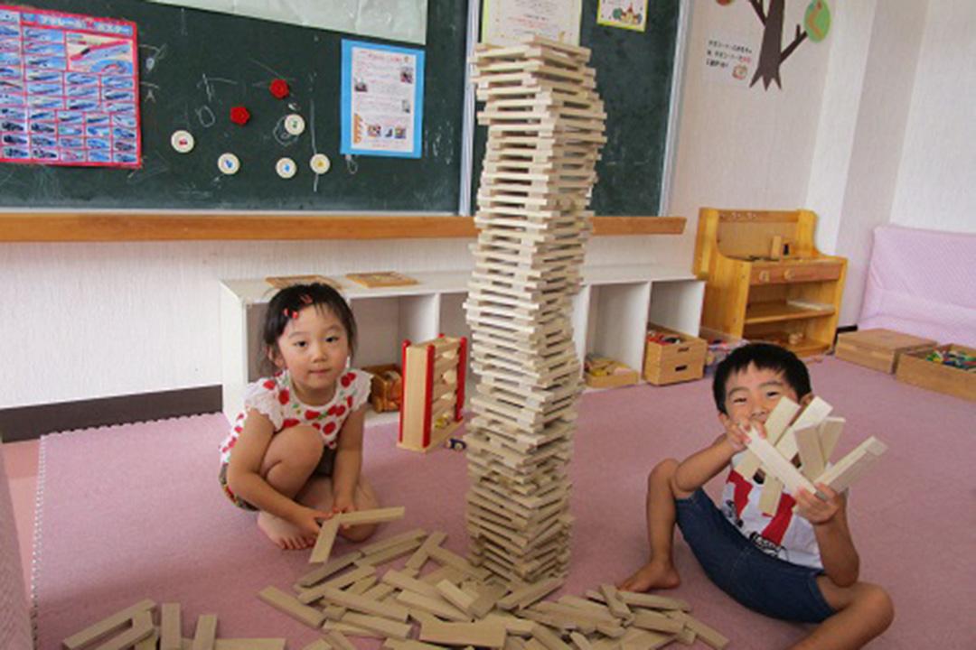 美里福島県材「木の積み木」